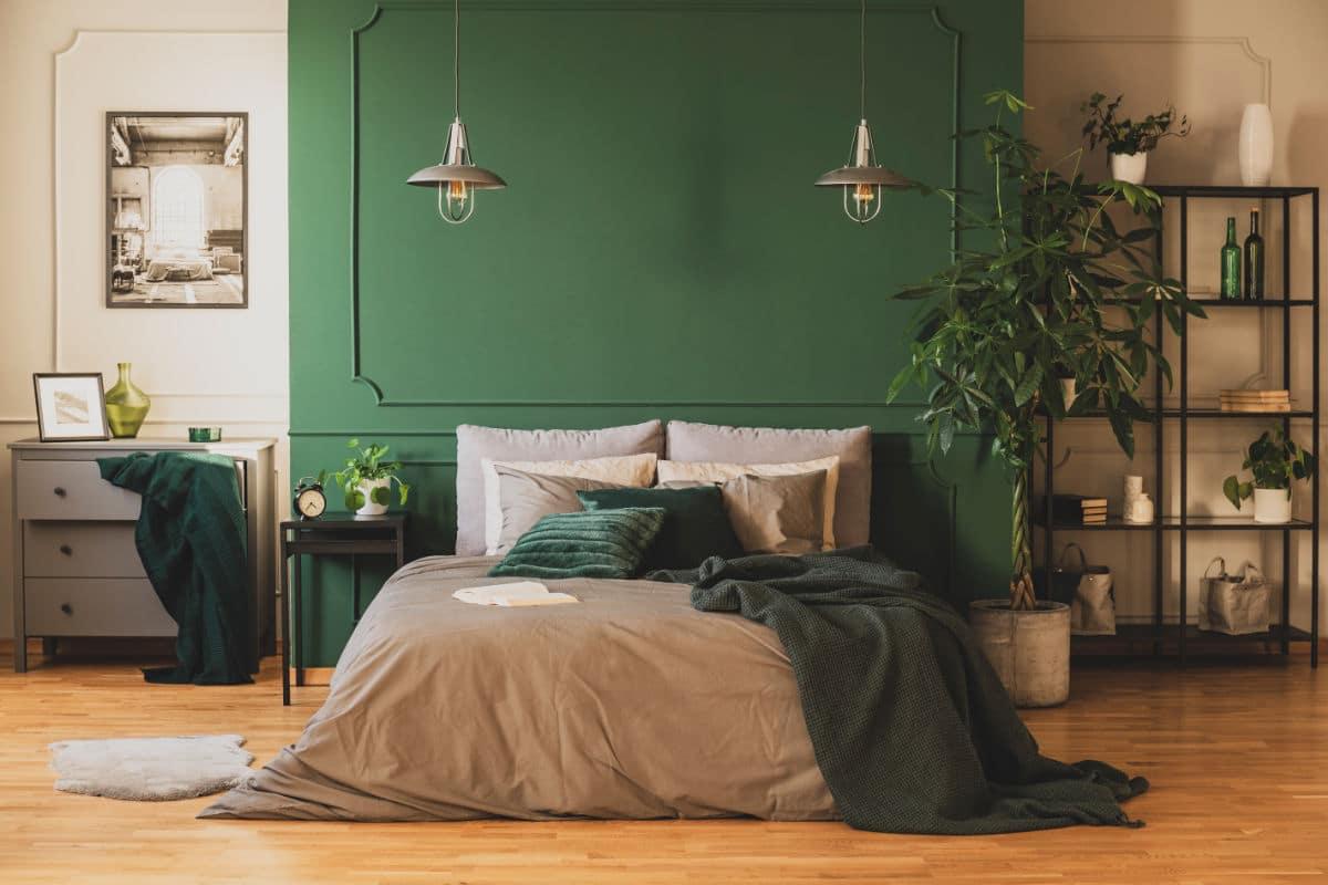 Slaapkamer verven in 2 kleuren
